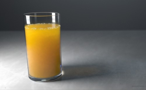 3D Rendering of a Glass of Orange Juice