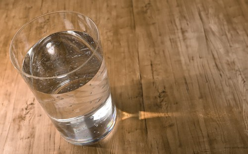 3D Rendering of a Glass of Water