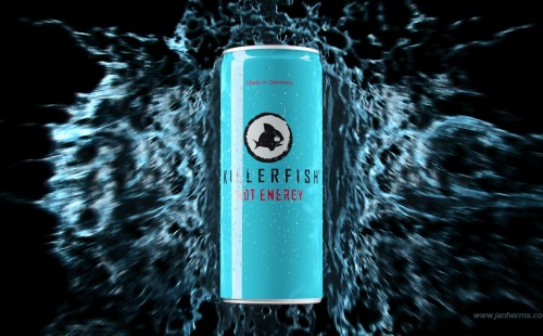 Packshot of an Energy Drink